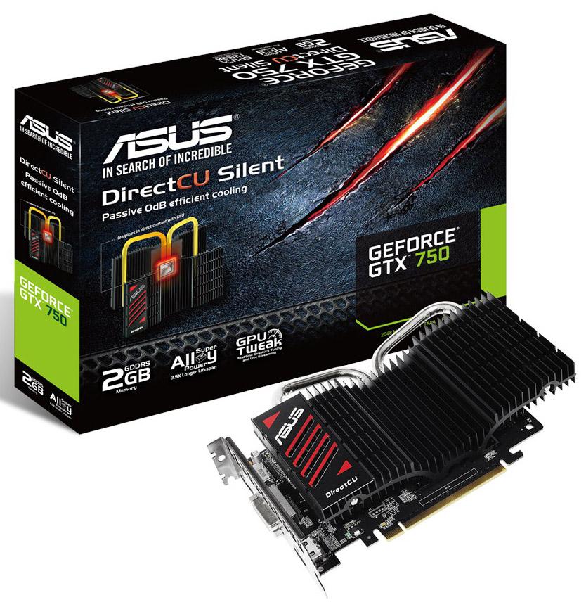Asus представил GeForce GTX 750 DirectCU II Silent с пассивным охлаждением