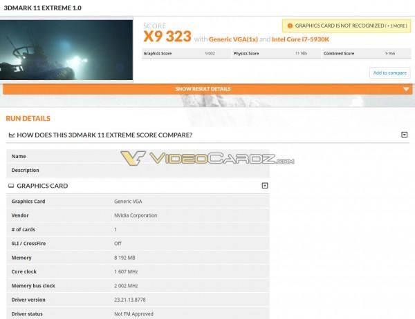 GTX 1070 Ti 3DMark 11 Extreme