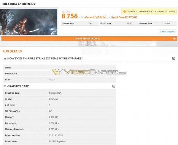 GTX 1070 Ti 3DMark Fire Strike Extreme
